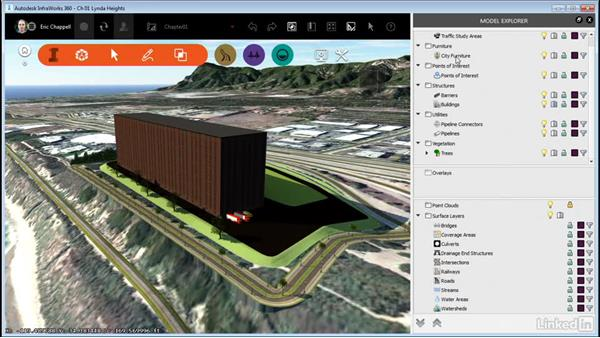Understanding the InfraWorks 360 model: Proposed features: InfraWorks 360 Essential Training