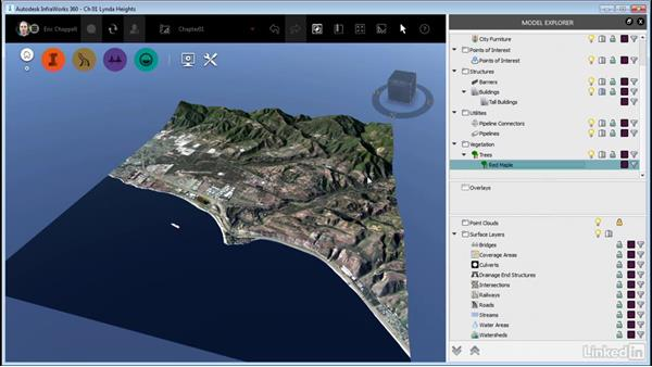 Navigating by selection: InfraWorks 360 Essential Training