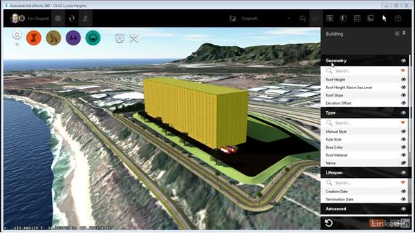 Working with the contextual stack: InfraWorks 360 Essential Training