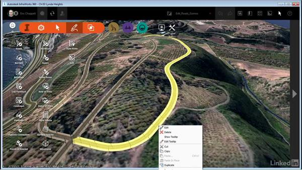 Working with Edit mode: InfraWorks 360 Essential Training