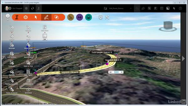 Editing roads with gizmos: InfraWorks 360 Essential Training