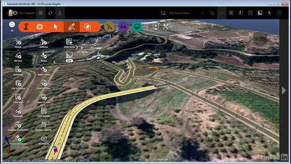 Editing roads with right-click menus: InfraWorks 360 Essential Training
