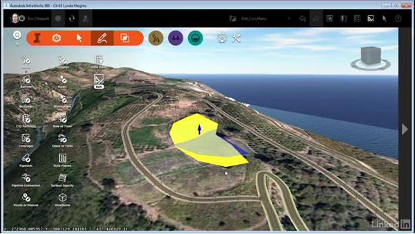 Editing coverages with right-click menus: InfraWorks 360 Essential Training