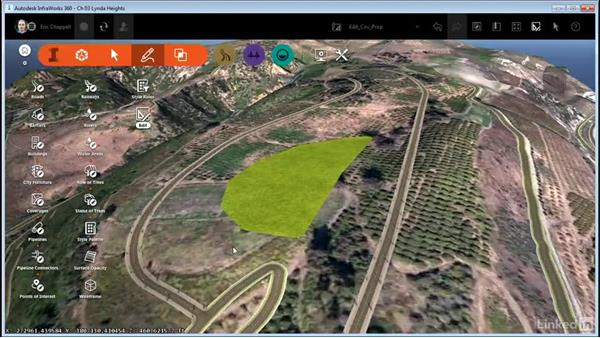 Editing coverage properties: InfraWorks 360 Essential Training
