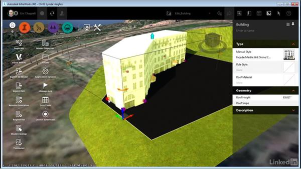 Editing buildings: InfraWorks 360 Essential Training
