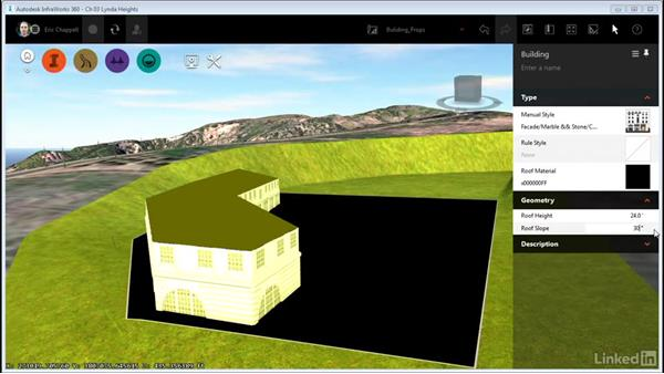 Editing building properties: InfraWorks 360 Essential Training