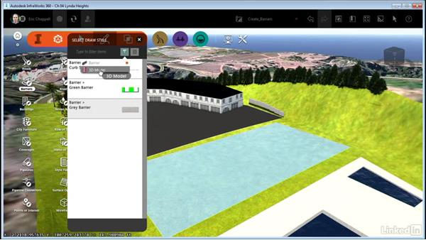 Creating barriers: InfraWorks 360 Essential Training