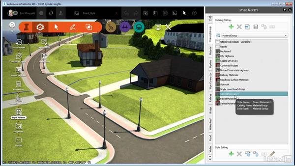 Creating a material group: InfraWorks 360 Essential Training