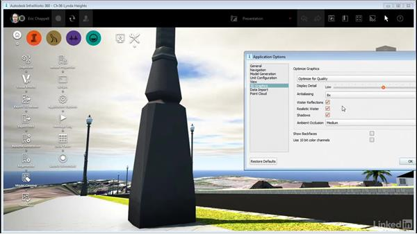 Working with 3D Graphics settings: InfraWorks 360 Essential Training