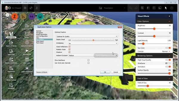 Working with Visual Effect settings: InfraWorks 360 Essential Training