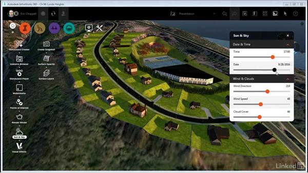 Working with Sun & Sky settings: InfraWorks 360 Essential Training