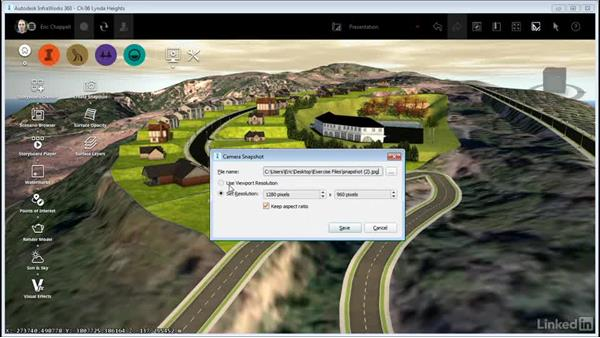 Creating a snapshot: InfraWorks 360 Essential Training