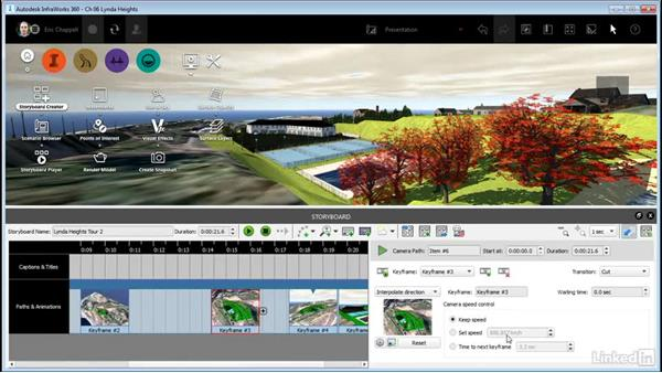 Editing a camera path animation: InfraWorks 360 Essential Training