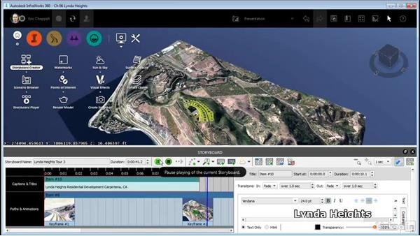Adding titles and captions to your storyboard: InfraWorks 360 Essential Training