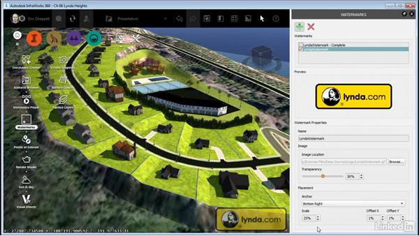 Adding a watermark: InfraWorks 360 Essential Training