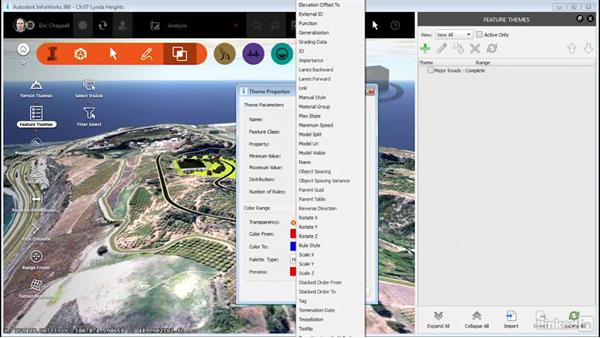 Using Feature Themes: InfraWorks 360 Essential Training