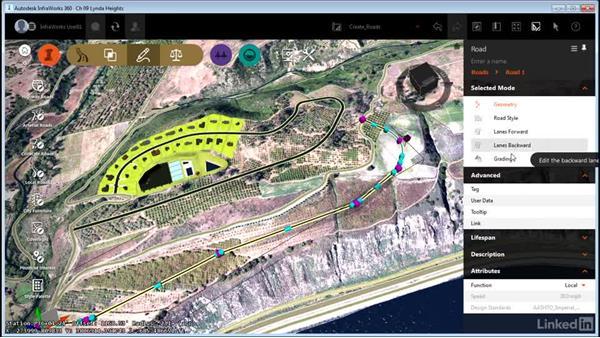 Creating design roads: InfraWorks 360 Essential Training