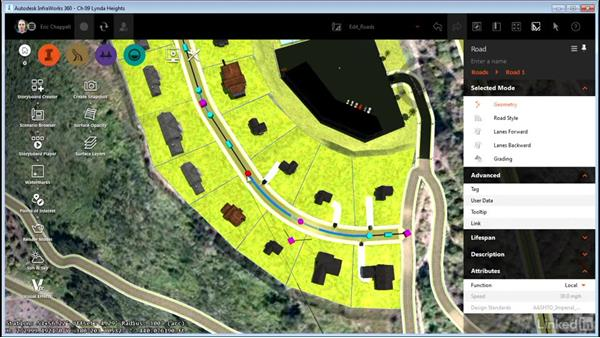Editing design roads: InfraWorks 360 Essential Training
