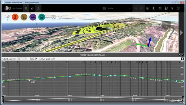 Using profile view: InfraWorks 360 Essential Training
