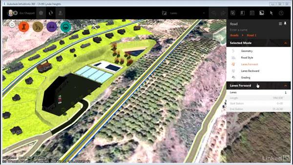 Working with lanes: InfraWorks 360 Essential Training