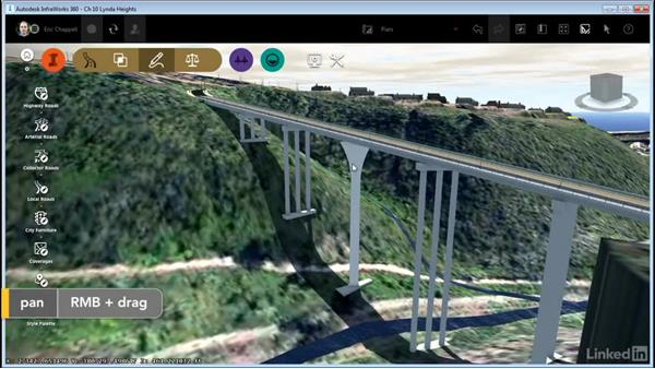Editing piers: InfraWorks 360 Essential Training