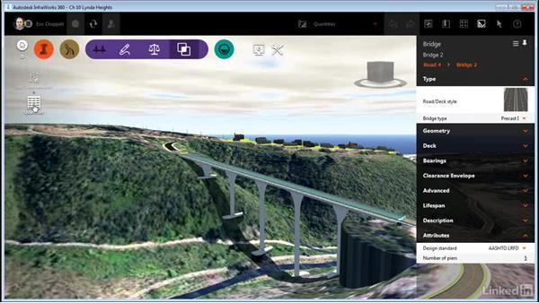 Calculating bridge quantities: InfraWorks 360 Essential Training