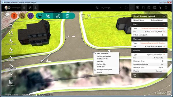 Editing pavement drainage: InfraWorks 360 Essential Training