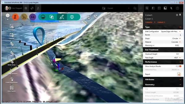 Creating a culvert: InfraWorks 360 Essential Training