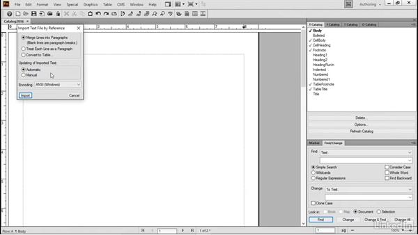 Copy text to a blank document: FrameMaker 2015 Essential Training