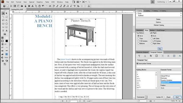 Use anchored frames: FrameMaker 2015 Essential Training