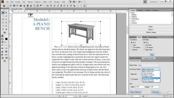 Edit anchored frames: FrameMaker 2015 Essential Training