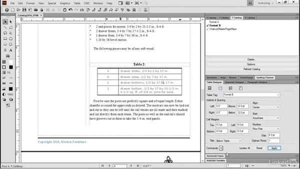 Customize table formatting: FrameMaker 2015 Essential Training