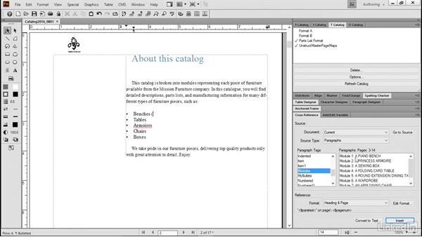 Insert cross-references in headings: FrameMaker 2015 Essential Training