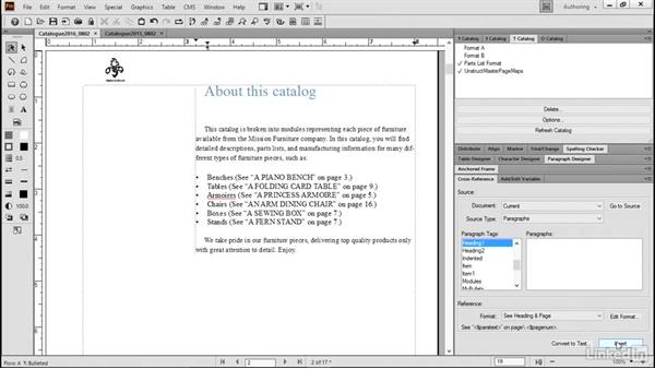 Cross-reference other documents: FrameMaker 2015 Essential Training