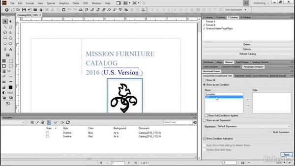 View conditional documents: FrameMaker 2015 Essential Training