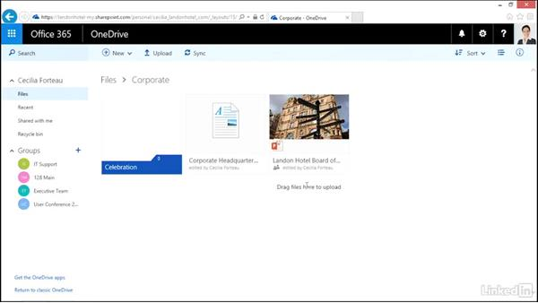Organize files and folders: OneDrive for Business Essential Training