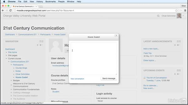 Send messages: Learn Moodle 3.1: The Basics