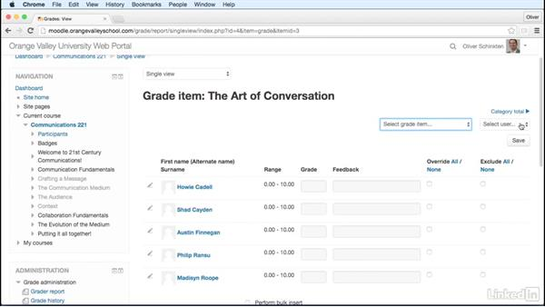 Gradebook: Categories and items: Learn Moodle 3.1: The Basics