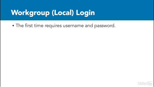 Workgroup authorization: Windows 10: Manage Identity