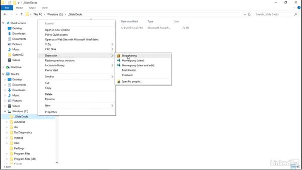 Share resources in a workgroup: Windows 10: Manage Identity