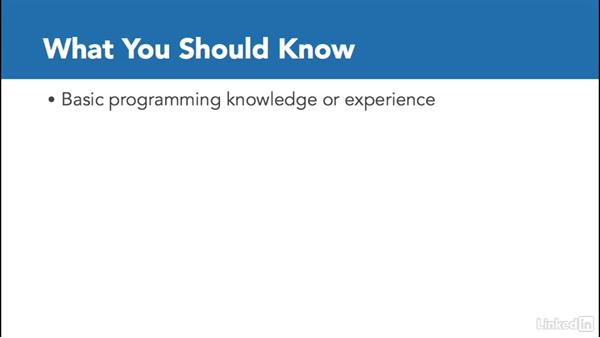 What you should know before watching this course: C# with .NET Programming