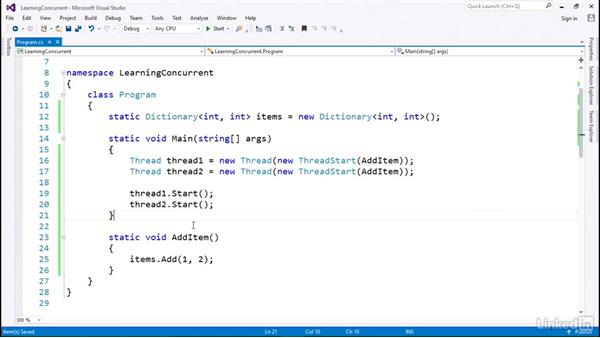 Concurrent for thread-safe collections: C# with .NET Programming