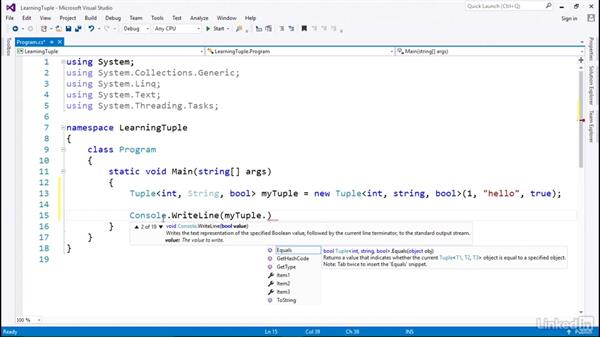 Tuple for multiple objects of different types: C# with .NET Programming