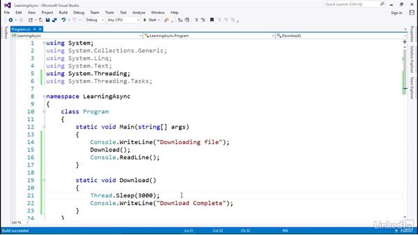 Introduction to async programming with .NET: C# with .NET Programming