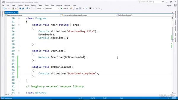 Anonymous functions, callbacks, and action to manage program flow: C# with .NET Programming