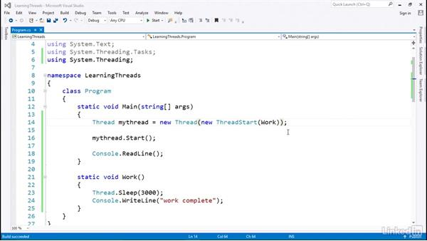 Creating a new thread: C# with .NET Programming