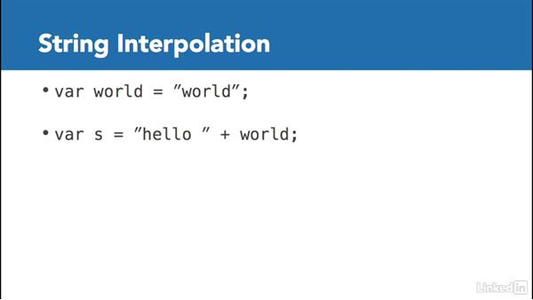 Introduction to string interpolation: C# with .NET Programming