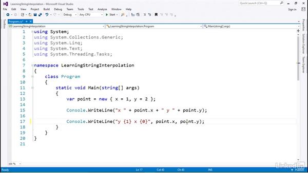 A simple string example: C# with .NET Programming