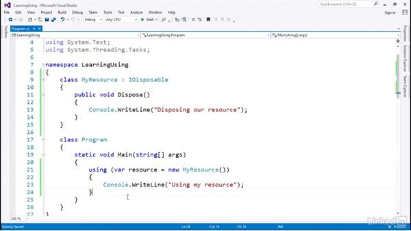 A simple example: C# with .NET Programming