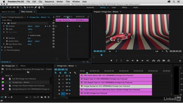Animating using Motion: Premiere Pro Guru: 3D Titling for Video Editors